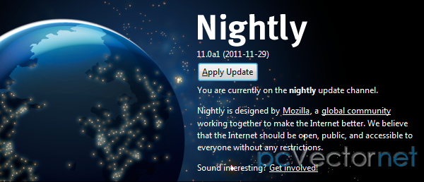 Firefox 11 alfa 1 (nightly)
