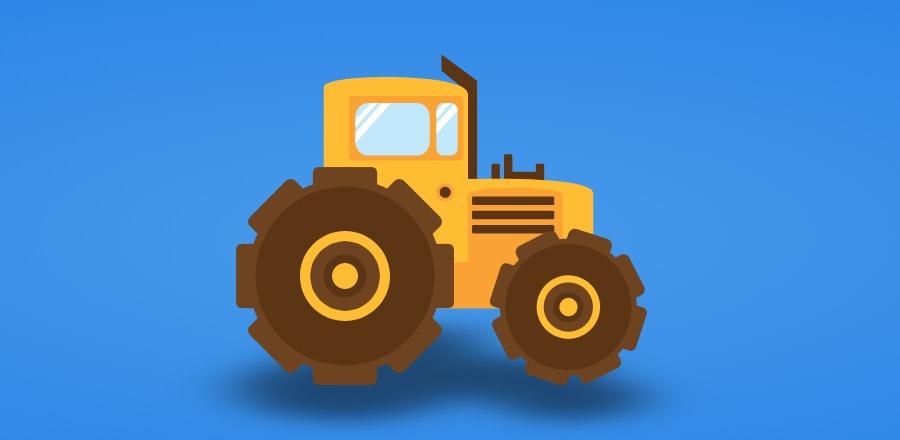 Добрым, картинка анимация трактор